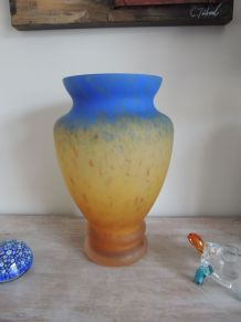 Vase Art Déco Bleu