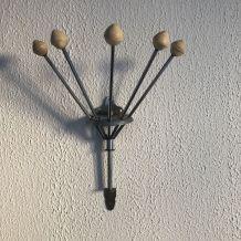 Portemanteau vintage 1960 parapluie torchons Serjac ivoire