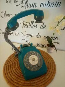 LAMPE À POSER RÉCUP' TÉLÉPHONE VINTAGE'77