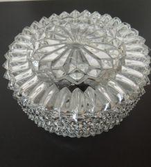Plafonnier verre en pointes de diamant