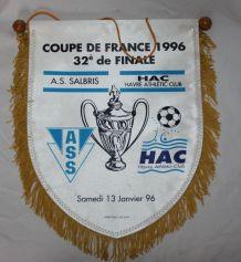 Fanion de Foot Vintage Coupe de France 96 Salbris havre
