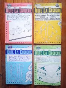 """4  numéros """"Toute la broderie"""" Mensuel - Années 60"""