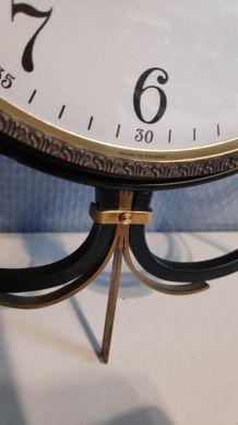 pendule Vedette vintage métal noir et doré