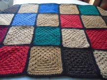 Plaid crocheté