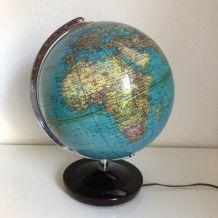 Globe vintage 1970 terrestre allemand Colomb - 33 cm