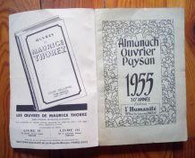 Almanach Ouvrier Paysan par l'Humanité 1955
