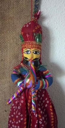 Marionnette traditionnelle indienne (Rajasthan)