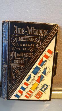 Carnet aide-mémoire militaire 1889
