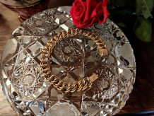 Bracelet Gourmette Vintage plaqué or 18 cts joaillier MURAT