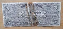 Billet de 5 Dollars US  1861