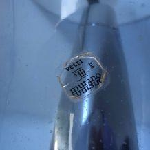 Lampe vintage 1980 verre Murano bleu Leola - 50 cm