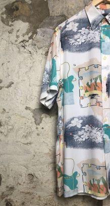 Chemise à motifs oversized
