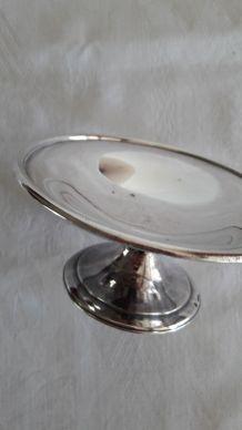 Mini Coupelle vintage métal argenté sur pied