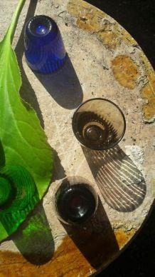 Verres à liqueur vintage verre multicolore (lot de 6)