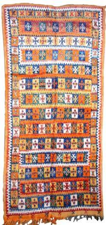 Tapis ancien Marocain Berber fait main, 1P70