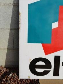 Grande plaque émaillée « ELF » 1 KM