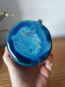 Pichet en céramique bleu turquoise