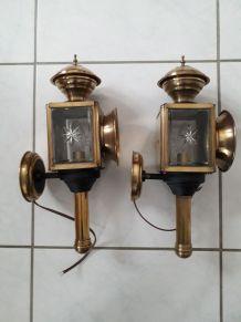 lanternes de fiacre électrisées