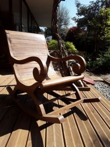 2 rocking chairs bois massif