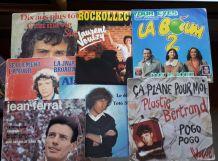 Lot de 7 vinyles 45 tours chansons françaises