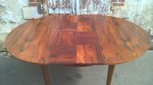 table a rallonge en palissandre scandinave