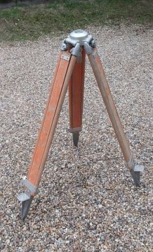 Trépied bois géomètre vintage