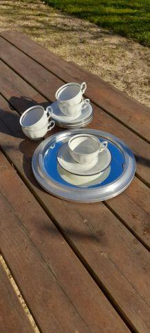 Tasses café et sous-tasses porcelaine fine de Baviere