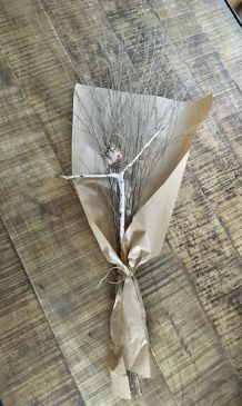 Bouquet branches fines séchées naturelles