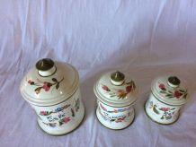 pots à épices en céramique italienne vintage
