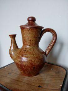 Théière cafetière en grès pyrité