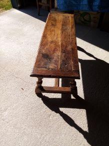banc table basse chêne XVIII° Siècle
