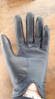 Paire de gant cuir agneau femme