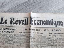 Le Réveil Economique 1 page du 15 novembre 1959