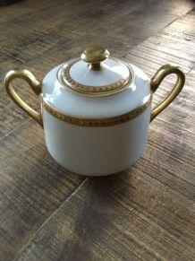 Sucrier porcelaine Limoges RAYNAUD années 40