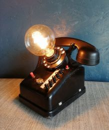 "Lampe industrielle, lampe vintage - ""Call Me !"""