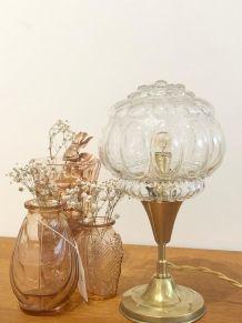 Lampe à poser en globe vintage années 50
