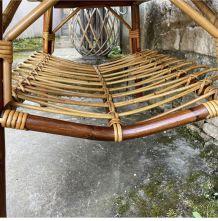 Table rotin et bambou