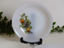 """4 assiettes arcopal """"fruits de France"""""""