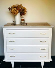 Commode blanche vintage