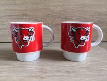 2 tasses vintage vache qui rit