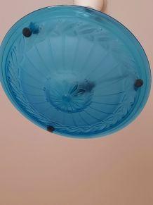 SUSPENSION pâte de verre couleur bleu