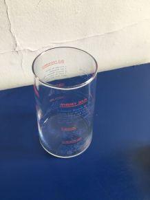 Vase - verre mesureur à cocktail vintage