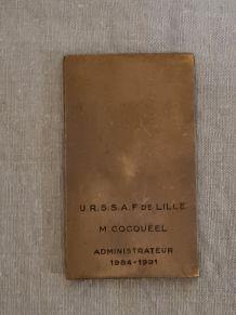 Médaille en bronze signée DELAMARRE région FLANDRES