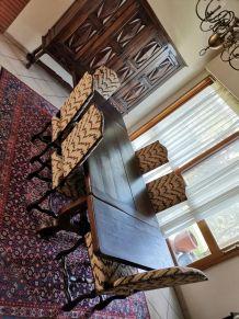 6 chaises tapissier + tabouret