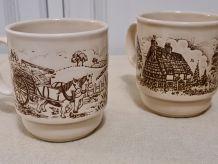 3 Mugs anglais staffordshire