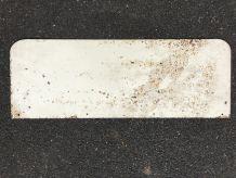 Plaque publicitaire tôle peinte