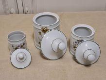 3 Pots d'apothicaire porcelaine de Limoges
