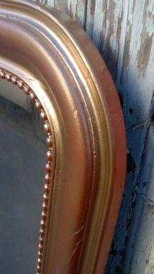 ancien grand miroir louis Philippe doré
