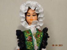 Ancienne poupée folklorique régionale Vosges  années 60