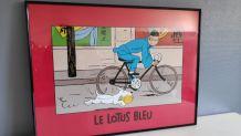 affiche Tintin encadrée édition Hergé Moulinsart / 010